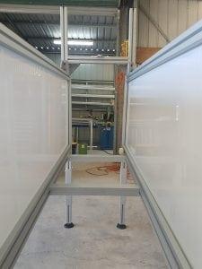 T Slot aluminium framed enclosure