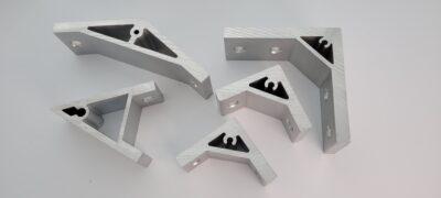 Aluminium extruded corner brackets