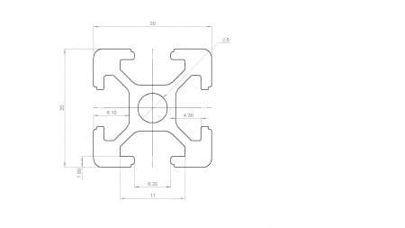 2020 T Slot Profile Aluminium