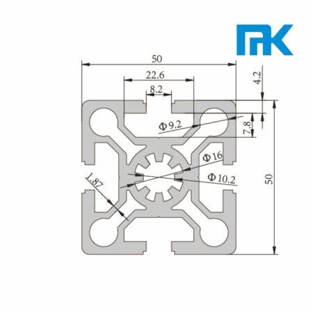 aluminiumprofile tslot 5050 extruded profile