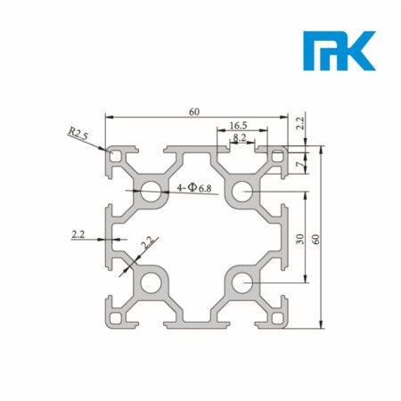 60x60 t slot aluminium profile extrusion