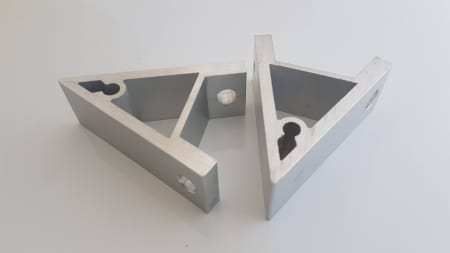 Extrusion corner bracket 90 degrees 40x40