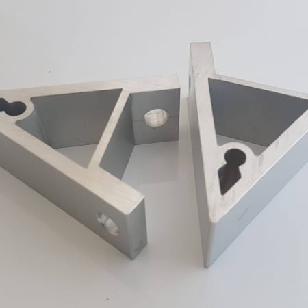 Extrusion machined corner brackets