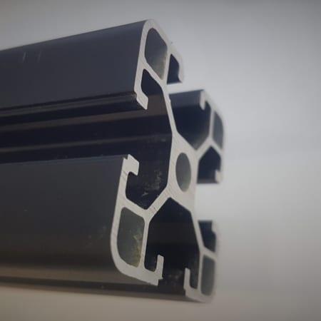 Anodised Black T Slot Aluminium Extrusions
