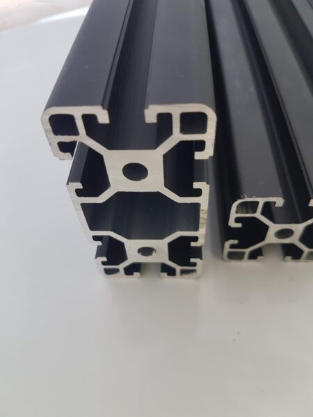 Black aluminium profile T-Slot