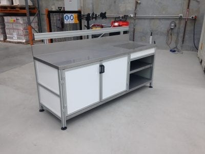 Custom made workbench T slot Aluminium Extrusions and accessories