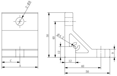 Continuous corner brackets