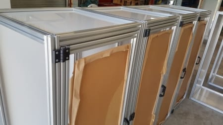 T Slot Aluminium framework with handles and hinges