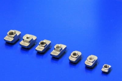 Hammer head nuts for T-Slot aluminium extruded profiles