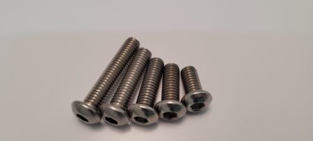304 Stainless button head bolts