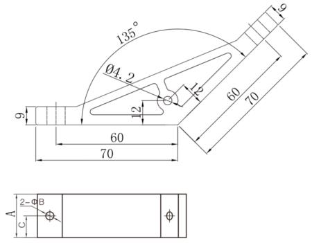 Machined extruded bracket