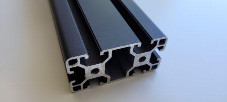 T-Slot aluminium extrusion 40x80 black
