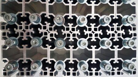 T-Slot extruded aluminium profile system