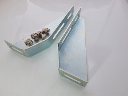 T-Slot aluminium foot bracket