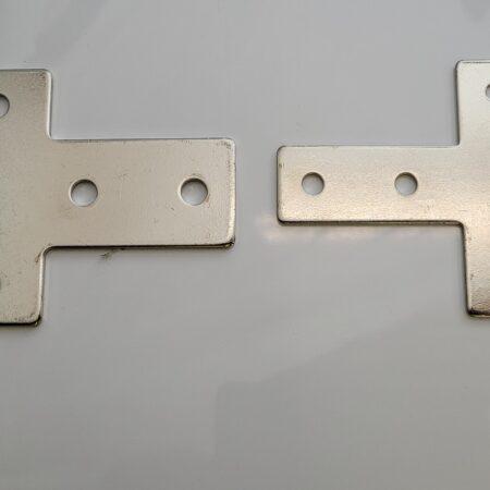 Aluminium extrusion connector plate