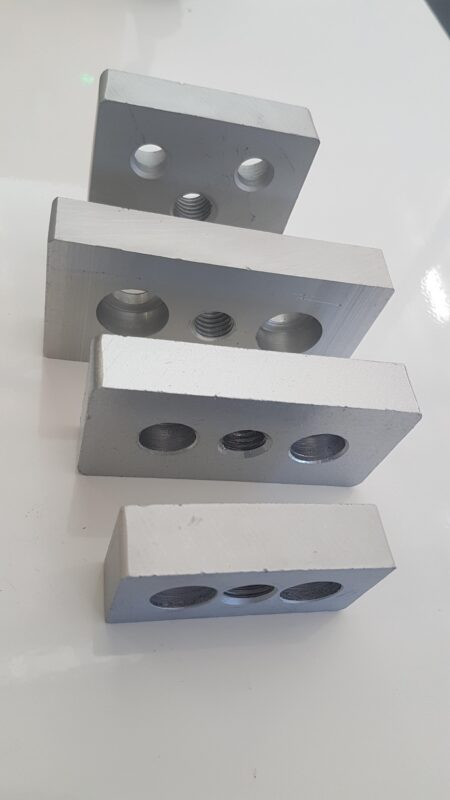 Aluminium extruded T slot profile end caps