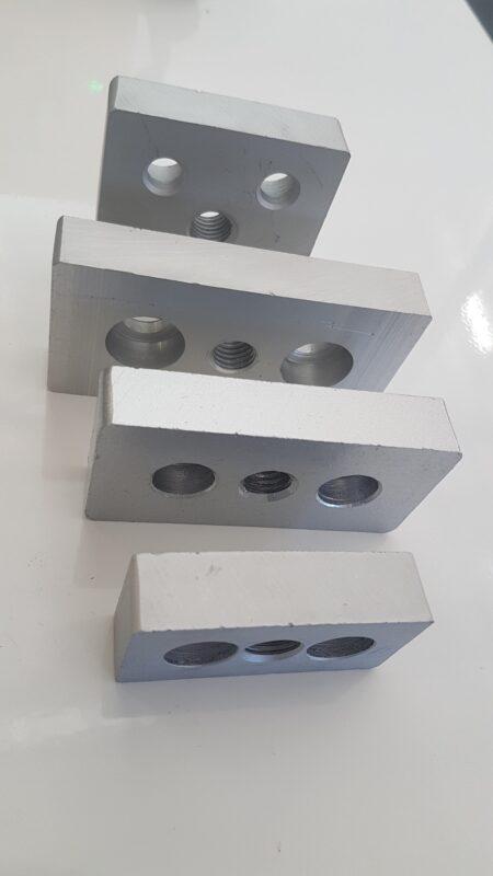 Aluminium extruded T slot profile end caps